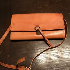 Lucky Brand Brown Leather Wallet/Crossbody Bag